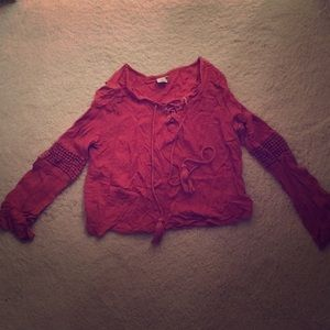 Burnt orange top (great for going out)